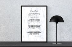 Invictus By William Ernest Henley, Poetry Print, Instant Download, Wall Art by PinkPebblePrints on Etsy