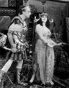"Theda Bara in Cleopatra directed by J.Gordon Edwards, 1917. Amazing, this movie was made almost 100 years ago! It was the most lavish production of its time. Sadly, there are no known complete negatives that have survived into the 21st century. It was considered extremely ""risqué"" because of Theda's costumes; after the Hays Code was enforced in Hollywood, it was all but banned.The last known prints appeared to have been destroyed in a fire, 1937.Only fragments survive."