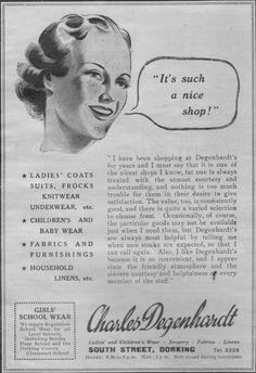Charles Degenhardt, Dorking. Nice Shop Advert