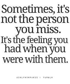The person you miss