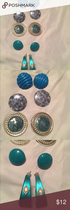 Blue/Teal Earring Lot Variety of blue/teal Earring Lot Jewelry Earrings