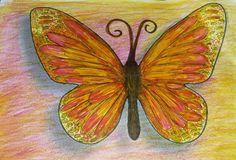 Schmetterling - Filz- und Buntstifte