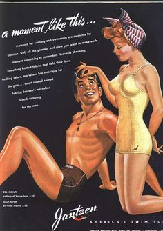 A moment like this calls for Jantzen Swimsuits (1943). #vintage #1940s #summer #fashion #ads