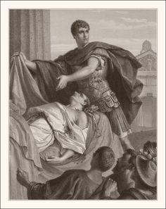Julius Caesar, Act III, Scene II, Antony and Caesar's body. Iulius Caesar, Rome Art, Mark Antony, The Orator, Ancient Rome, Shakespeare, Original Image, Find Art, Framed Artwork