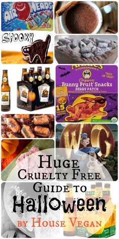 Housevegan.com: Huge Cruelty Free Guide to Halloween | Vegan Halloween Fun - Whether you're new to vegan Halloweens, bored with your current routine or just looking for some ideas, check out this huge guide to a cruelty free Halloween. It covers candy and snacks, meals, drinks and movies - everything you need for a fun and (not so) spooky night!