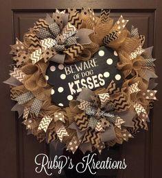 Dog Wreath – Summer Wreath – All Season Wreath – Dog Decor – Pet Wreath – Pet Decor – Everyday Wreath – Rustic Wreath – Burlap Wreath – Dog Dog Wreath – Pet Wreath – Pet Decor – Burlap Wreath – Everyday Wreath – Rustic Wreath Dog Wreath, Diy Fall Wreath, Fall Wreaths, Summer Wreath, Wreath Ideas, Burlap Wreaths, Jute, Handmade Christmas Decorations, Halloween Decorations