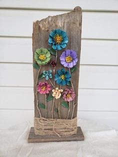 Handmade, Wood Framed Pinecone Flowers With Moss Log Framed – BuzzTMZ Pine Cone Art, Pine Cone Crafts, Pine Cones, Diy Arts And Crafts, Diy Crafts, Painted Pinecones, Pine Cone Decorations, Nature Crafts, Flower Crafts