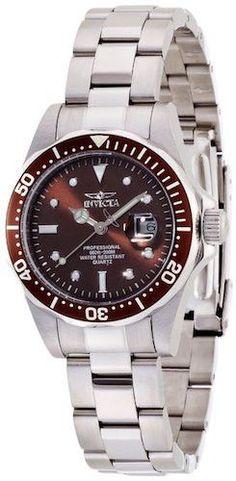 Invicta 4865 Women's Watch Swiss Pro Diver Quartz Brown Sunray Dial