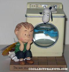 Linus & Snoopy with Washing Machine Figurine