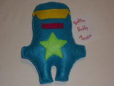 Bedtime Buddy Monster  Superhero by KentsKrafts on Etsy, $14.00