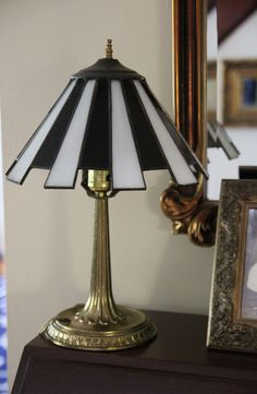 Small Brass Desktop Candlestick Lamp w/ Black and by SouthEndGreen, $100.00