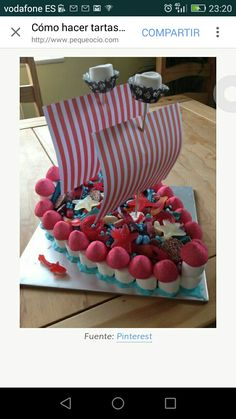 Tarta chuches pirata