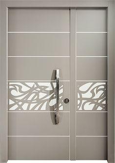 דלת פרוזה כנף וחצי, דלתות כניסה מעוצבות בנגיעה אומנותית ליין - ART- רשפים