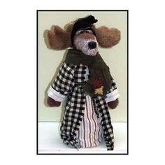GrandPa Moose Handmade Woodland Moose Doll by LindaWalshOriginals
