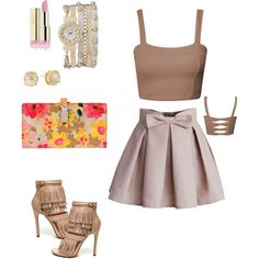18th Birthday Girl by latoya-lorraine on Polyvore featuring polyvore fashion style Chicwish Wilsons Leather Vince Camuto maurices