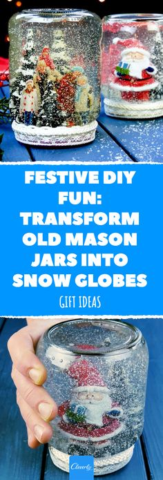 Thousands Throw Away Mason Jars At Christmas! Here\'s Why You Shouldn\'t. #diy #snowglobe #christmas #masonjar #gift #present #decoration #giftideas