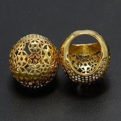 Grande Etíope Anel Mulheres 22 k banhado a Ouro Anel Anel de Jóias Africano Eretrian, Etiópia África Moda Jewellry Estilo India anel