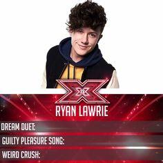 A pop princess, a cartoon princess and the King of Pop make up Ryan Lawrie's royal flush! It's his #XFactor Fact Card.
