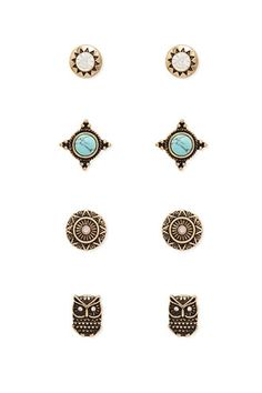 Maurices Peach Stone Earring Set KlAE4bmNE