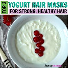Yogurt provides deep conditioning treatment for hair. Learn how to make your own hair mask from these three hair-nourishing yogurt hair mask recipes