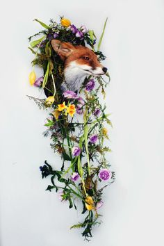My little fox looks bewildered but beautifully floral with his flower garland of wilting spring blooms by Yan Skates Prop Making, Skate Style, Little Fox, Spring Blooms, Flower Garlands, Skates, Floral Style, Castle, Sunflowers
