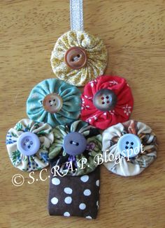 ~ S.C.R.A.P. ~ Scraps Creatively Reused and Recycled Art Projects: Handmade Christmas Tree Ornament