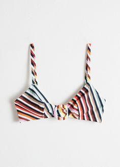 0de07aa33 Rainbow Stripe O-Ring Bikini top Swimwear Fashion, Bikini Fashion, Triangle Bikini  Top