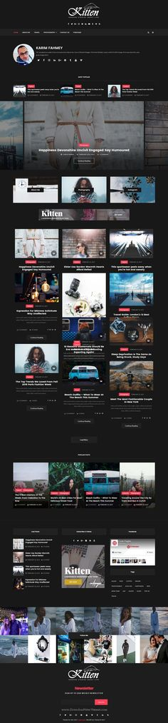 Kitten is an elegant, modern & minimalistic design responsive #WordPress theme for #personal news, #blog and #magazine website with multiple homepage layouts download now➩ https://themeforest.net/item/kitten-multiconcept-elegant-wordpress-blog-theme/19512967?ref=Datasata