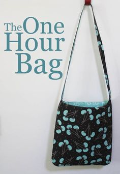 If you have an hour to spare, why not take that time to create something useful and adorable? This How to Make a Bag in One Hour tutorial shows you how to make a quick and simple tote bag. This fabulous bag is sturdy and a breeze to make. The square shape of the body of the bag makes it a perfect bag to cart around your school books or materials to and from work.