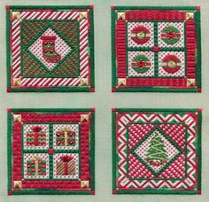 See the pretty Holiday Ornaments Series 3 (canvaswork) at Nordic Needle