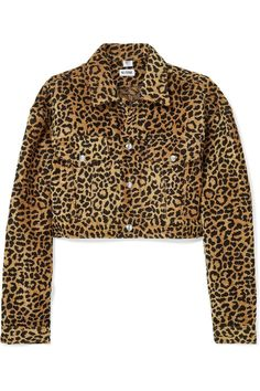 ad1357d8cf5 Re Done Cropped Leopard-Print Velvet Jacket ( 500) Animal Print Outfits