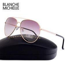979c46c74aa Blanche Michelle 2018 High Quality Unisex Pilot Polarized Sunglasses Men  Women UV400 Sunglass Gradient Lens Sun