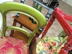 Statement pieces - Vibrant Chairs by Upholstery Solutions, via Flickr