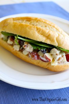 Apple and Almond Organic Chicken Salad & other organic recipes