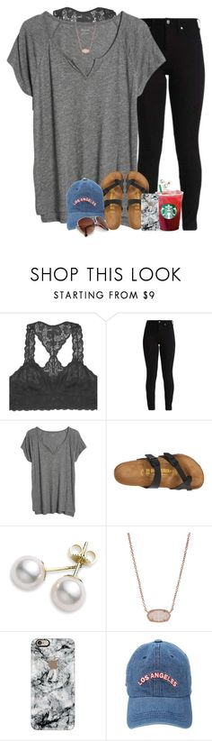 """///////////•\\\\\\\\\\"" by southernstruttin ❤ liked on Polyvore featuring Youmita, Madewell, Birkenstock, Mikimoto, Kendra Scott and Casetify"
