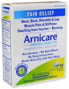 Arnicare gel and tablets are all natural, plant-based products intended to relieve the pain and inflammation from injury and training. A great natural alternative to standard pain killers.