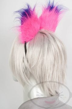 Fluffy Cheshire Cat Ear and Tail Set Cosplay by lemonbrat on Etsy Cheshire Cat Halloween, Pink Purple, Lilac, Cat Ears And Tail, Felt Purse, Barefoot Shoes, Knitted Animals, Coin Purses, Animales