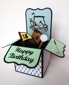 Card in a box for a golfer