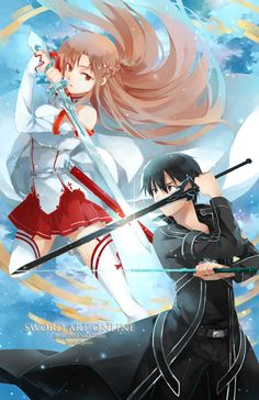 SAO AKA Sword art online.  Loved this anime so much. KIRITO x ASUNAAAAA ♥