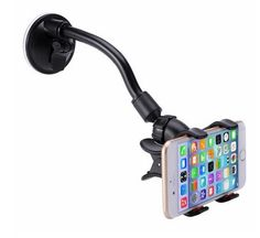 Car Mount, LIANSING Long Arm Universal Car Mount Holder With 360 Degree Rotation Suction Cup for Apple iPhone 6 Samsung Galaxy and Other Android Phones (long cup black/red) * Visit the image link more details. (This is an affiliate link) Iphone Car Mount, Iphone Car Holder, Cell Phone Car Mount, Phone Charger Holder, Cell Phone Holder, Smartphone Holder, Car Best, Mobile Holder, Magnetic Phone Holder