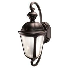 Heath Zenith Secure Home H Oil Rubbed Bronze Motion Activated Outdoor Wall Light Lowe's