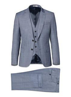 Costume bleu gris - prince de galles fondu 17EC3FOBG-F523 39 - Costume Homme 2d4b2d130f9d