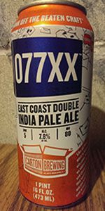 Carton Brewing / 077XX / American Double/Imperial IPA / 7.8% ABV / New Jersey