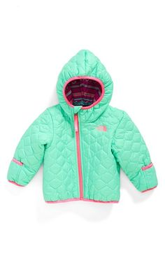 The North Face 'Perrito' Reversible Water Repellent Hooded Jacket (Baby Girls) available at #Nordstrom