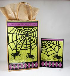 Spider Web Die-namics and Stamp Set, Harlequin Die-namics - Michele Boyer
