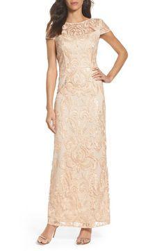 Main Image - Alex Evenings Lace Column Gown