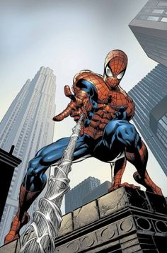 Drawing Marvel Comics Art Print: Amazing Spider-Man Cover: Spider-Man Swimming by Mike Deodato : - Marvel Comics, Bd Comics, Marvel Art, Marvel Heroes, Spiderman Marvel, Spiderman Pics, Captain Marvel, Captain America, Comic Art