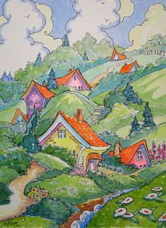 Colorful Neighbors Storybook Cottage Series | Flickr - Photo Sharing!