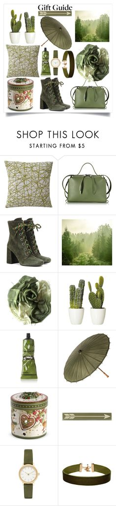 """""""Green Gift Guide"""" by beccallop ❤ liked on Polyvore featuring Jil Sander, Prada, Aesop, Cultural Intrigue, Villeroy & Boch, Home Decorators Collection, Skagen, ALDO, giftguide and GREEN"""