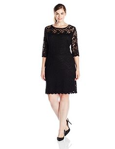 Connected Apparel Women's Plus-Size 3/4 Sleeve All Over Lace Shift Dress, Black, 20W Connected http://www.amazon.com/dp/B00YL88HL6/ref=cm_sw_r_pi_dp_gy06vb0B1D75W